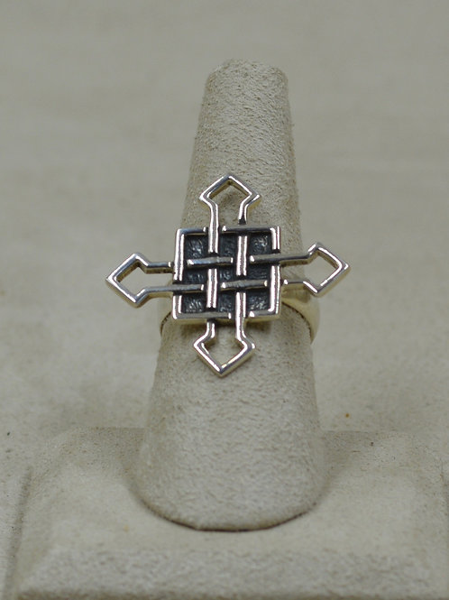 Sterling Silver Cross 7x Ring by Roulette 18