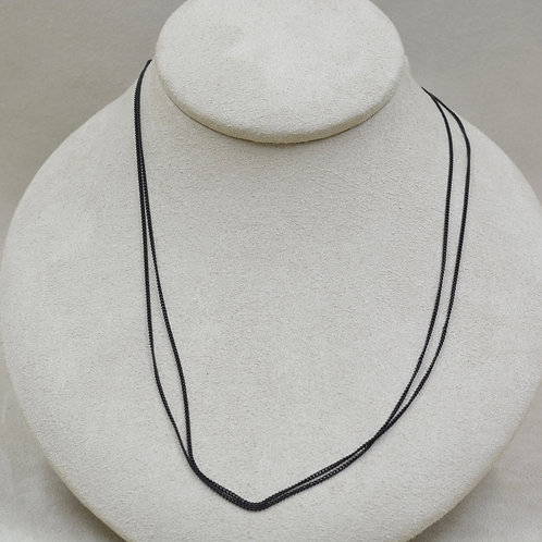 2 Strand Black Carboned Steel Chain by Michele McMillan