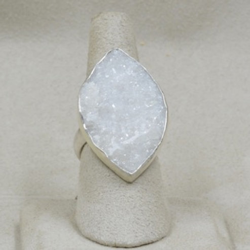 Northern Russian Druzy & Sterling Silver 7.5X Ring by Michele McMillan