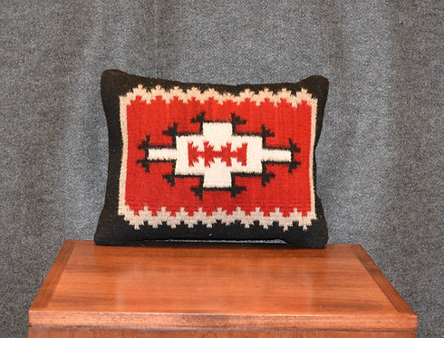 """Set of 2 Fino Navajo Style Pillows Red - 12"""" X 15"""""""