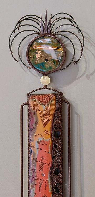 """Totem Story - Magic Maker"" Sculpture - 46"" x 9"" x 2"" by Chris Turri"