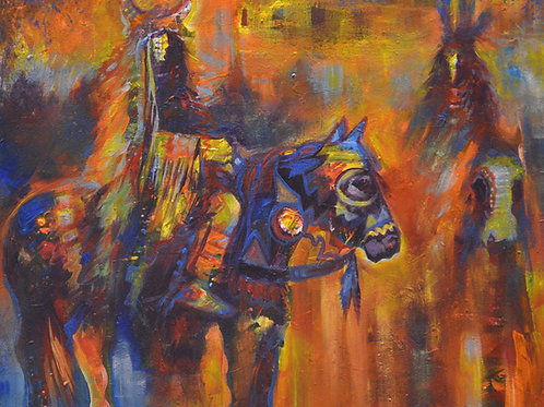 "Buffalo Rider"" by Farrell Cockrum"