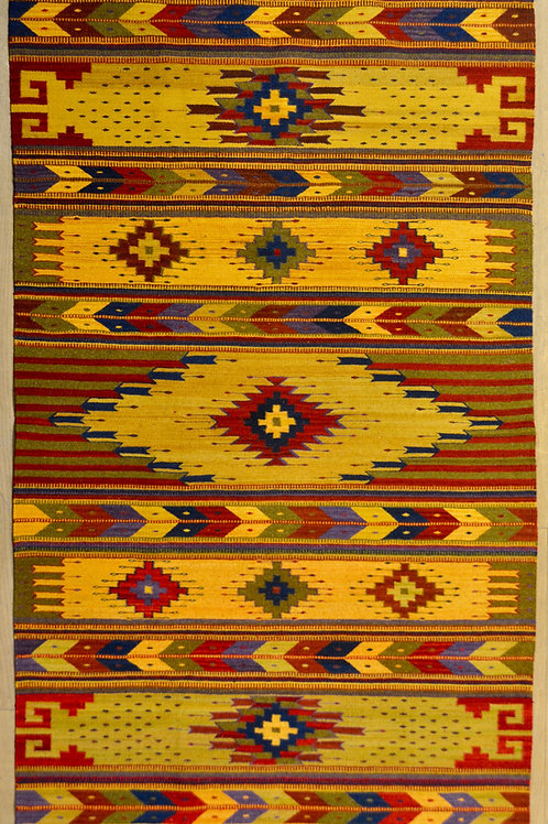 "Diamantes Quebrados Large 4'-3"" x 6'-6"" Rug, by Sergio Martinez - Zapotec"