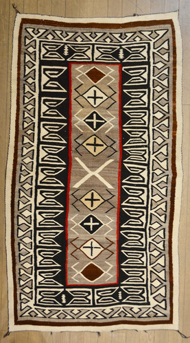 Teec Nos Pos Vintage Navajo Weaving 70 Quot X 38 Quot Truewest