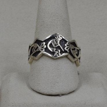 Sterling Silver Kokopelli 10X Ring by Michael & Melanie Lente