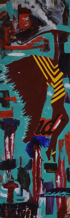 """""""Ndi"""" - Acrylic on Canvas - 36"""" X 12"""" - by Carlo Martinez"""