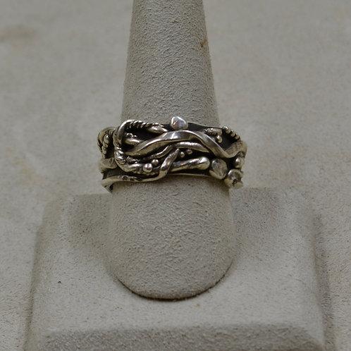 Arroyo Seco Sterling Silver 11.25x Ring by Robert Mac Eustace Jones