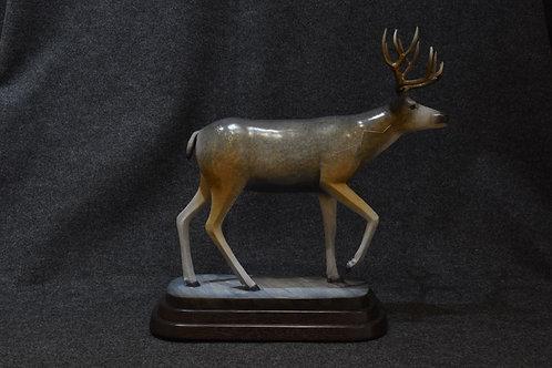 Winter Buck Mule deer by Joe Cajero, Jemez Pueblo