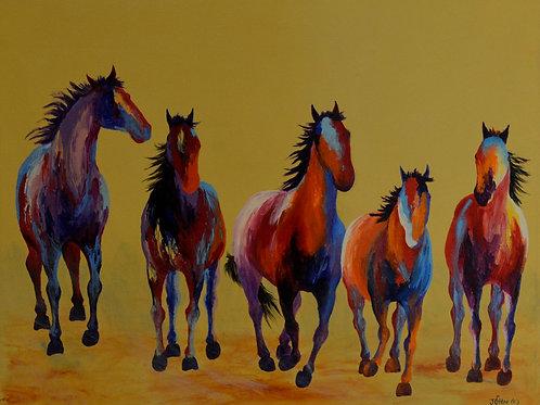 "'A Run in the Park' - Acrylic on Canvas - 24"" x 30"" - by John Saunders"