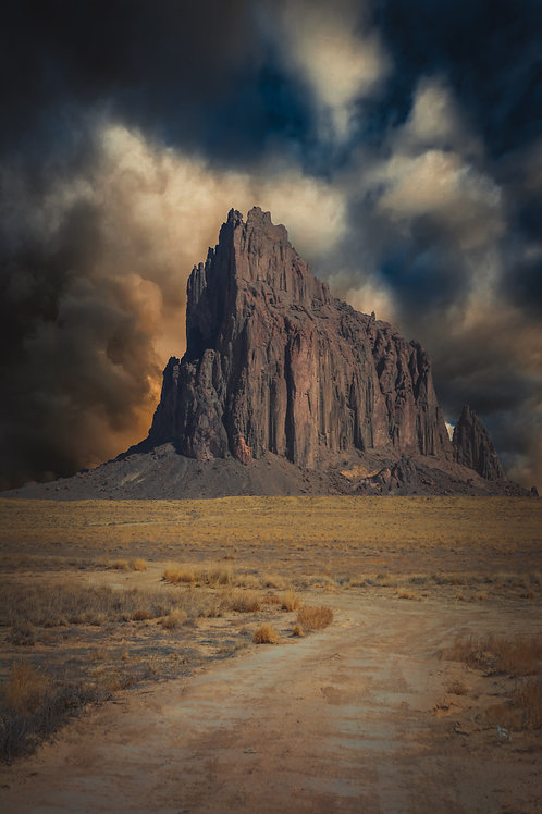 """""""Shiprock"""" 2/10 - Archival Photo on 18"""" x 12"""" Birch by Vincent Chavez"""