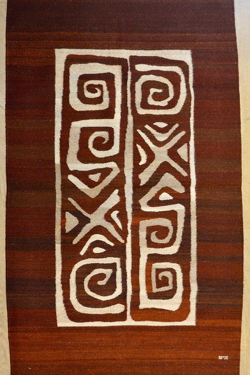 "Centro Estampa Medium Rug, 3'-6"" x 5'-7"", by Sergio Martinez - Zapotec"