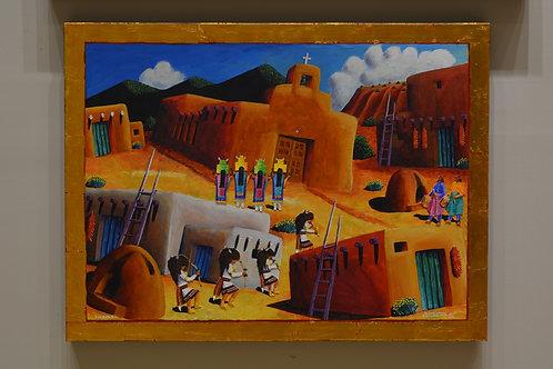 """""""Pueblo Buffalo Dance"""" by David Gary Suazo, Taos Pueblo"""