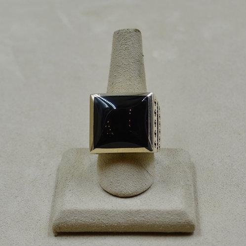 Onyx & Sterling Silver 32 Crosses 12.25x Ring by JL McKinney