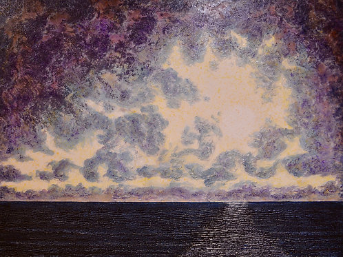 """Moon Shadows"" Oil on Canvas - 48"" x 60"" by Ken Bonner"