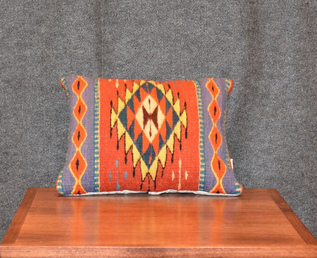 "Set of 2 Zapotec Peanut Pillows - 12"" X 14"""
