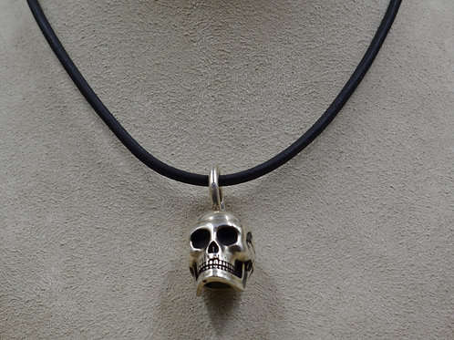 All Sterling Silver Large Skull Pendant by JL McKinney