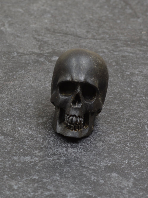 Small Jet Human Skull Fetish