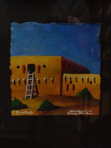 """""""Pueblo Night Scene #2"""" by David Gary Suazo, Taos Pueblo"""