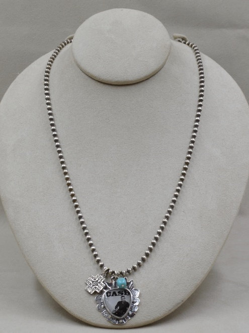 Sterling Silver Johnny Cash Necklace by Shoofly 505