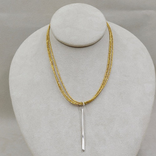 24k Gold Vermeil Over Sterling Silver Necklace by Richard Lindsay