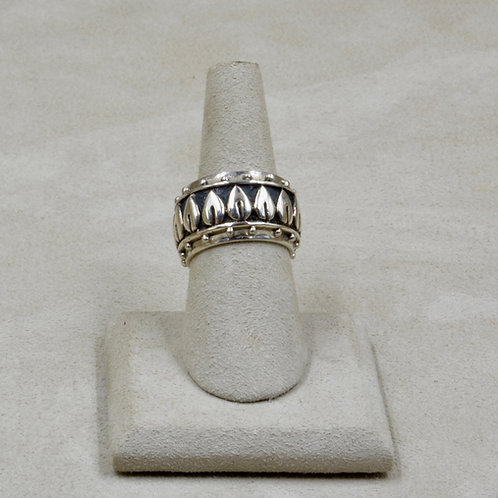 Sterling Silver Multi-Leaves Band 7x Ring by Roulette 18