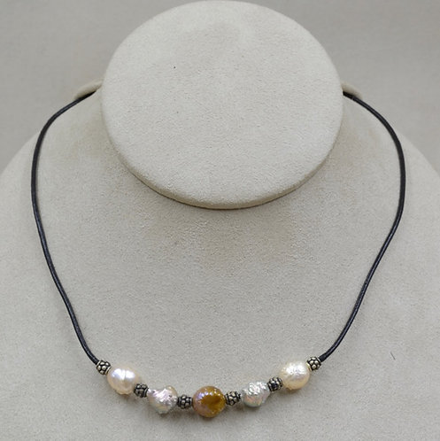 Natural Rosebud Pearls Necklace by US Pearl Co.