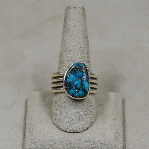 Hi-Grade Tyrone Turquoise 10x Ring from True West/John Paul Rangel