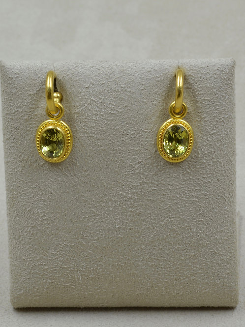 Oval Chrysoberyl 3.63Cts & 22k Gold Granulated Drops Only by Pamela Farland