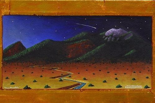"""""""Taos Pueblo Mountain"""" by David Gary Suazo, Taos Pueblo"""