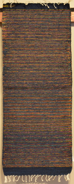 """Zapotec Table Runner with Midnight Stripe - 15"""" X 40"""""""