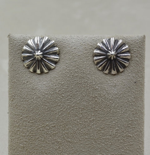 """Sterling Silver 5/8"""" Button Post Earrings by Lapidary Mastery"""