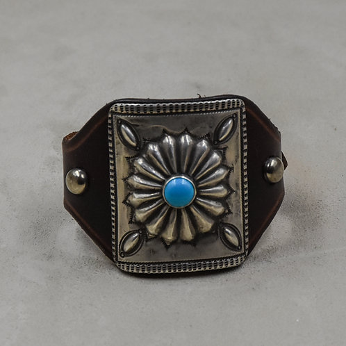 Sterling Silver Repose Cuff w/ Sleeping Beauty Turquoise by Buffalo