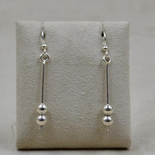 2 Bead Dangle Sterling Silver Earrings by Jacqueline Gala