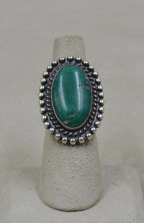 Vintage Fred Harvey Era Poss Cerillos Turquoise 6.25x Ring