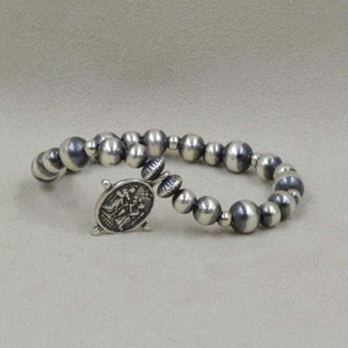 Sterling Silver Guadalupe Stretch Bracelet by Shoofly 505