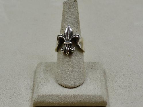 Sterling Silver Fleur de Lis 7.5x Ring by JL McKinney