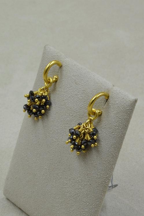 22k Gold Small Hoops (only) Earrings by Pamela Farland