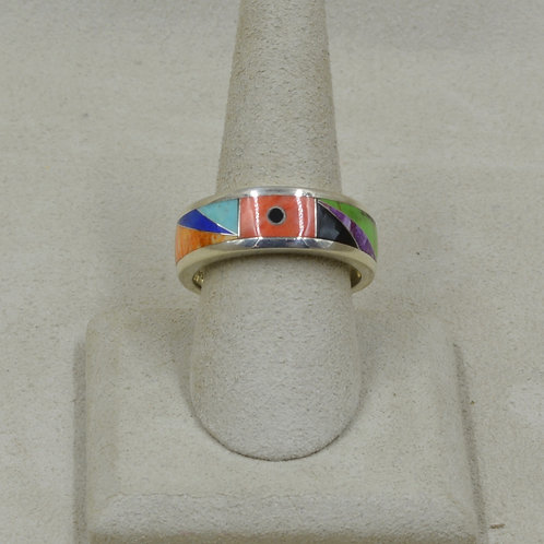 Gallup Multi-Stoned Sterling Silver 12.5x Ring by GL Miller Studio