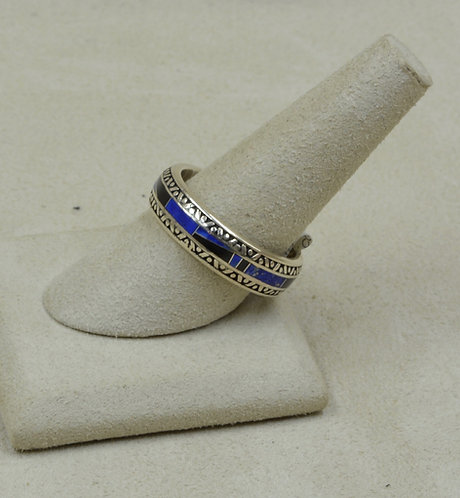 Lapis & Sterling Silver 12x Ring by GL Miller Studio