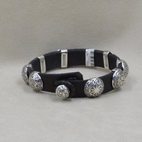 Sterling Silver 9-Concho Bracelet by Rick Montano