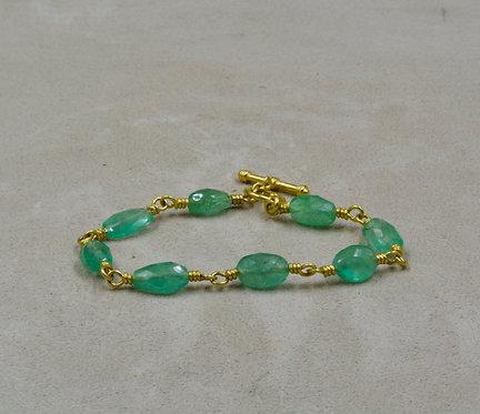 22k Gold & Emerald Bracelet by Pamela Farland