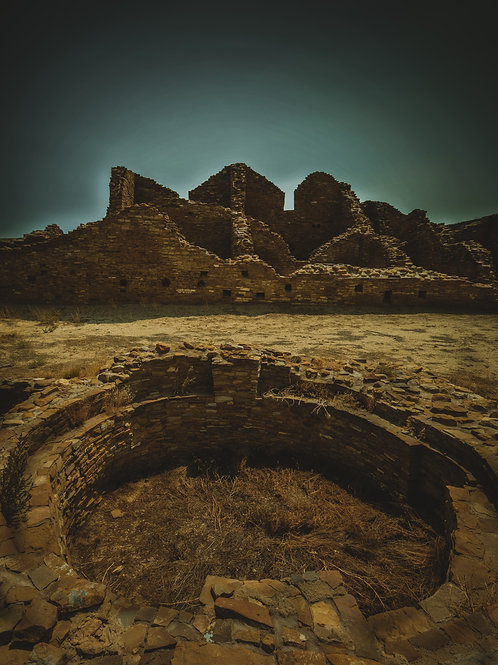 """""""Chaco Canyon"""" Edition of 100 - 8"""" x 10"""" - by Vincent Chavez"""