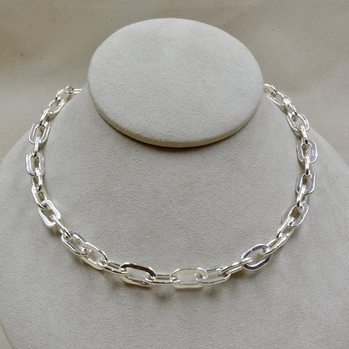 "All Sterling Silver Medium Link 17"" Necklace by Robert Mac Eustace Jones"