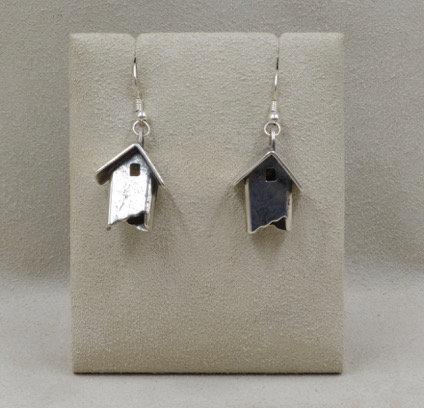Sterling Silver Little Houses Earrings by Richard Lindsay