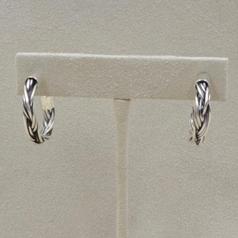 Mixed Wire Hoop Earrings by Richard Lindsay