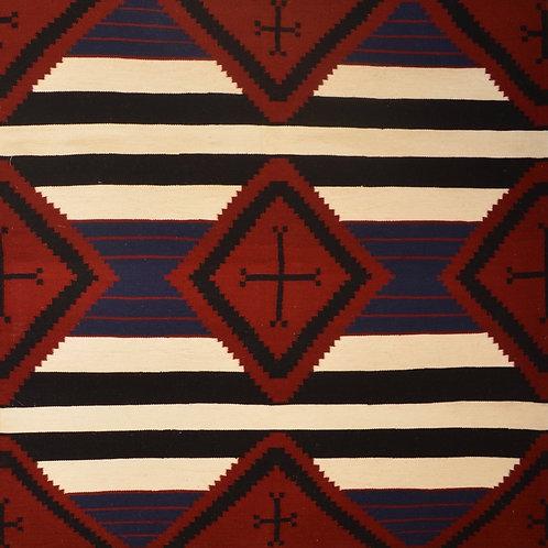 "Chief's Blanket 3rd Phase Navajo Rug by Julie Pete - 50"" X 52"""