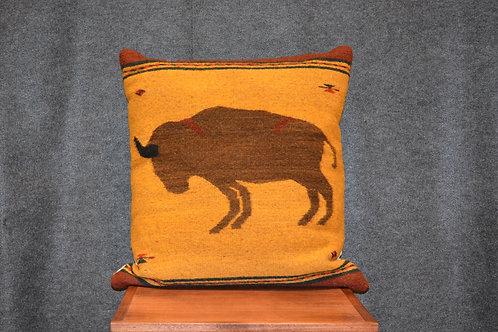 "Set of 2 Large Buffalo Zapotec Pillows - 22"" X 22"""