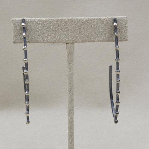 Oxidized Sterling Silver Shot Post Earrings by Michele McMillan