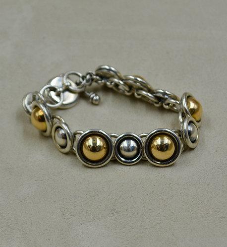 14k Gold & Sterling Silver Link Bracelet by James Reid