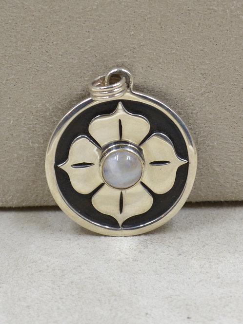 Sterling Silver 4 Petal Lotus Pendant by Roulette 18